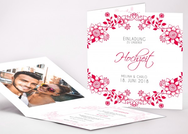 Einladungskarte Melina