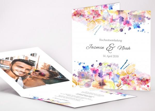 Einladungskarte Jasmin