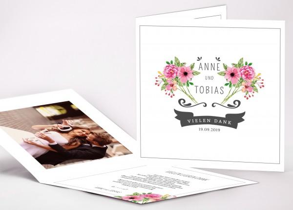 Danksagungskarte Anne