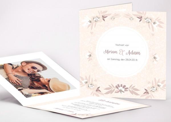 Einladungskarte Miriam