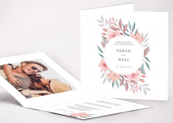 Einladungskarte Sarah