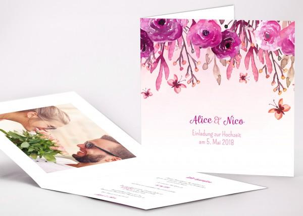 Einladungskarte Alice