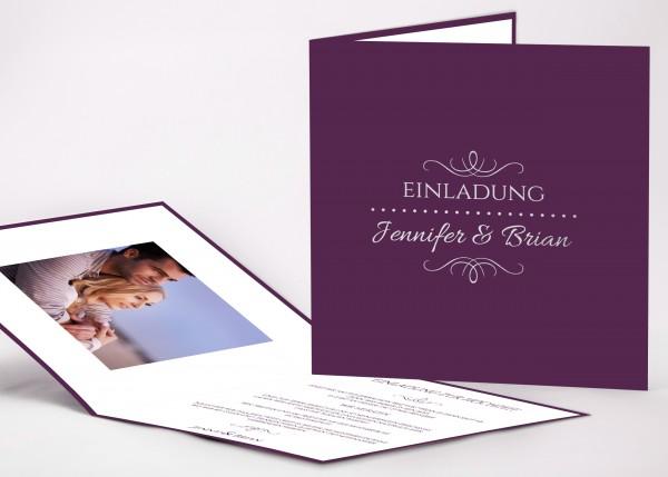 Einladungskarte Jennifer