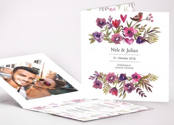 Einladungskarte Nele