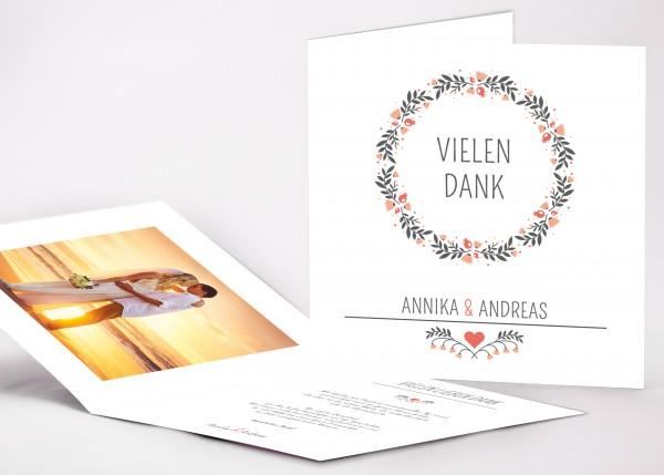 Danksagungskarte Annika