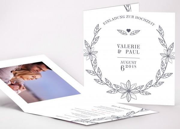Einladungskarte Valerie