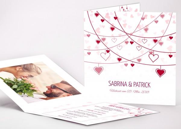 Einladungskarte Sabrina