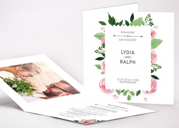 Einladungskarte Lydia