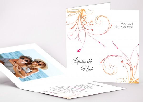 Einladungskarte Laura