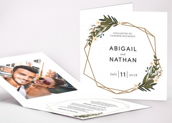 Einladungskarte Abigail