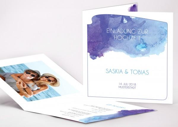 Einladungskarte Saskia