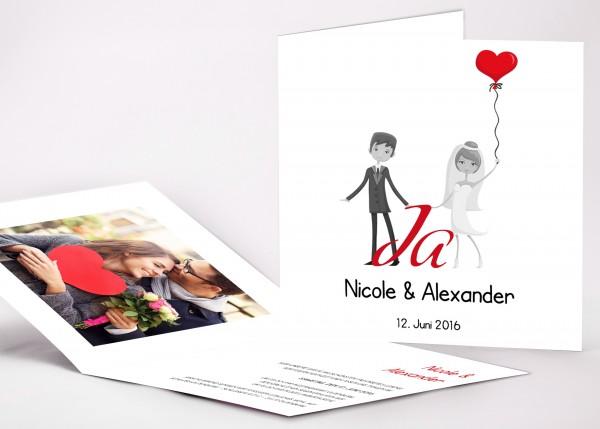 Einladungskarte Nicole
