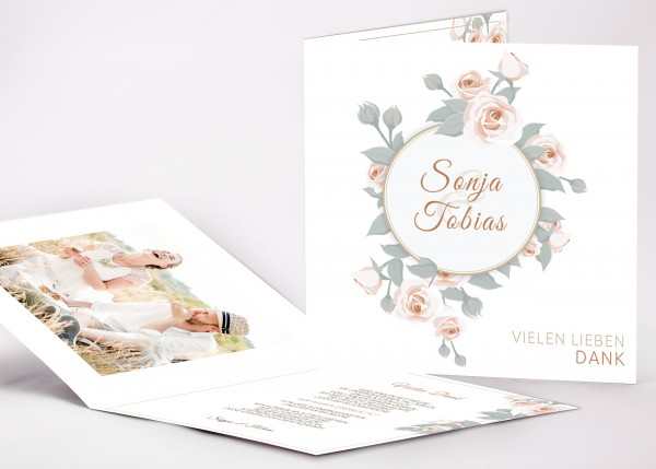 Danksagungskarte Sonja