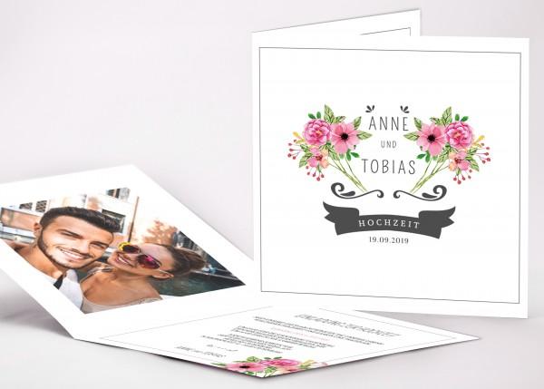 Einladungskarte Anne