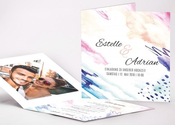 Einladungskarte Estelle