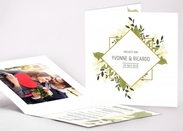Einladungskarte Yvonne