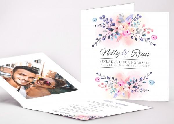 Einladungskarte Nelly