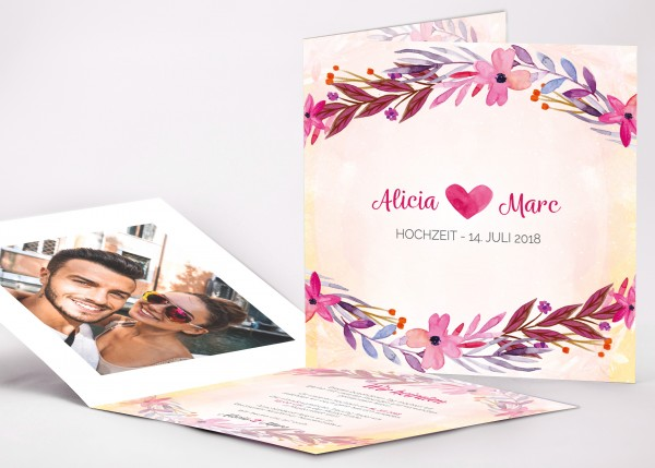Einladungskarte Alicia