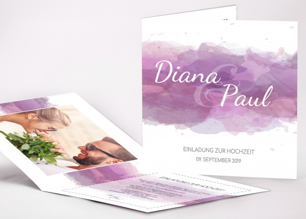 Einladungskarte Diana