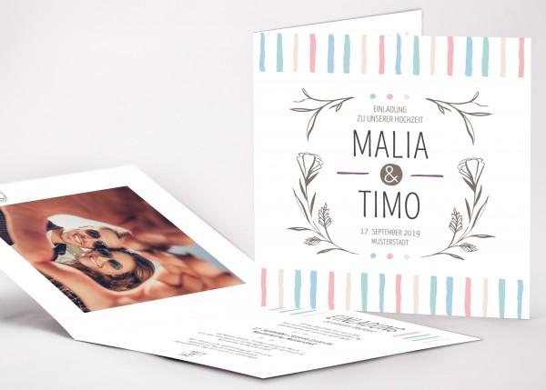 Einladungskarte Malia