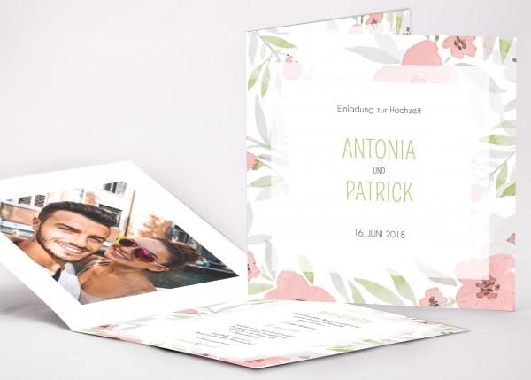 Einladungskarte Antonia