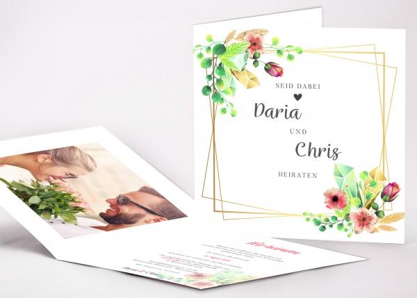 Einladungskarte Daria