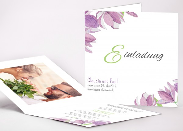 Einladungskarte Claudia