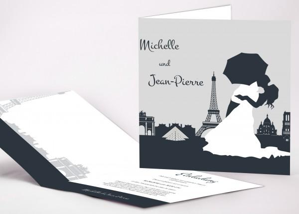 Einladungskarte Paris