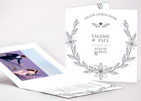 Danksagungskarte Valerie