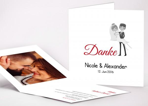 Danksagungskarte Nicole