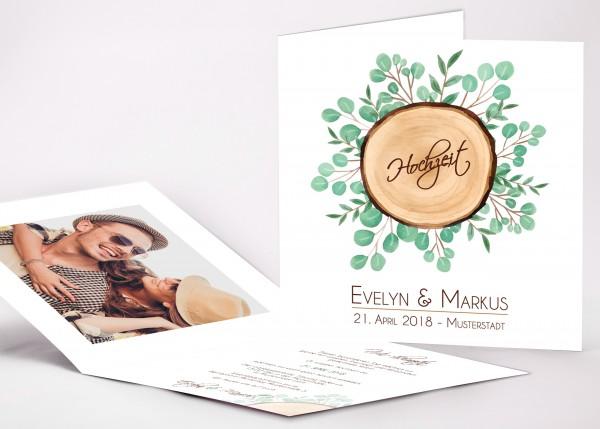 Einladungskarte Evelyn