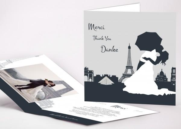Danksagungskarte Paris