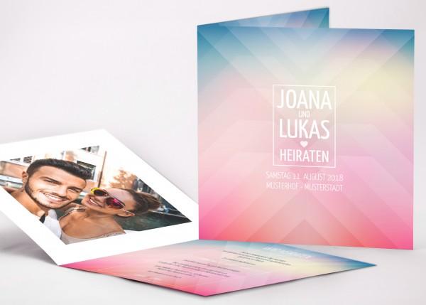 Einladungskarte Joana