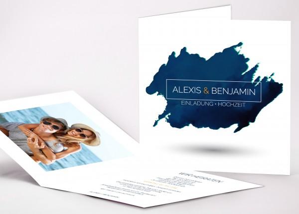 Einladungskarte Alexis