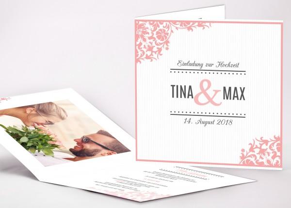 Einladungskarte Tina