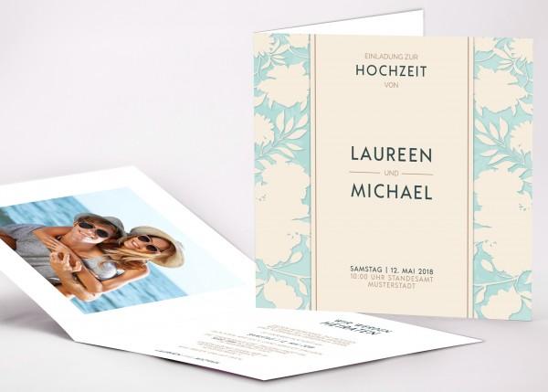 Einladungskarte Laureen