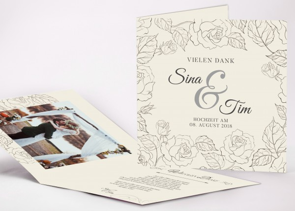 Danksagungskarte Sina