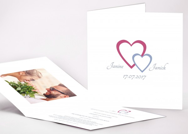 Einladungskarte Janine