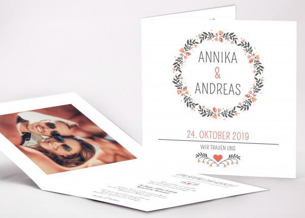 Einladungskarte Annika
