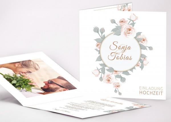 Einladungskarte Sonja