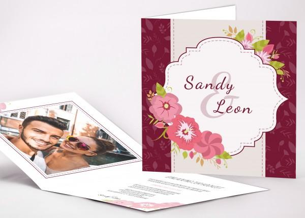 Einladungskarte Sandy