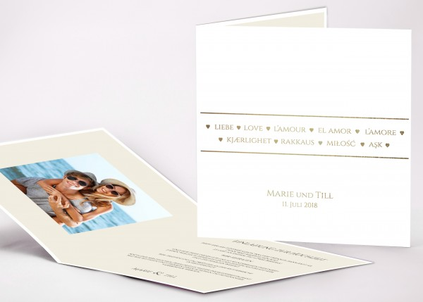 Einladungskarte Marie