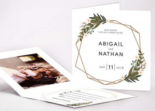 Danksagungskarte Abigail