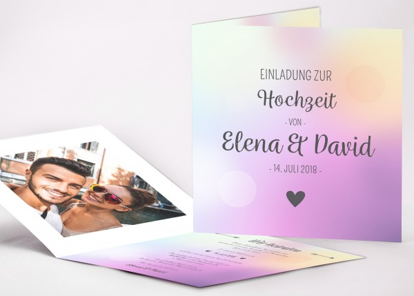 Einladungskarte Elena