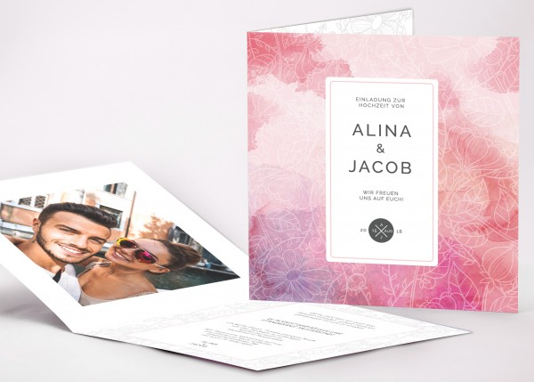 Einladungskarte Alina