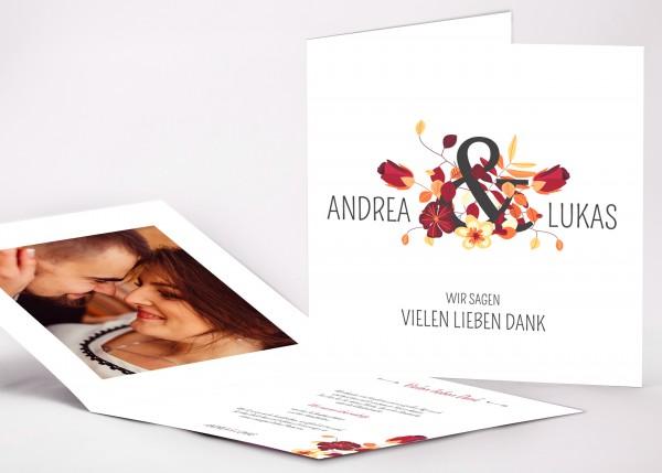 Danksagungskarte Andrea