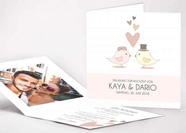 Einladungskarte Kaya
