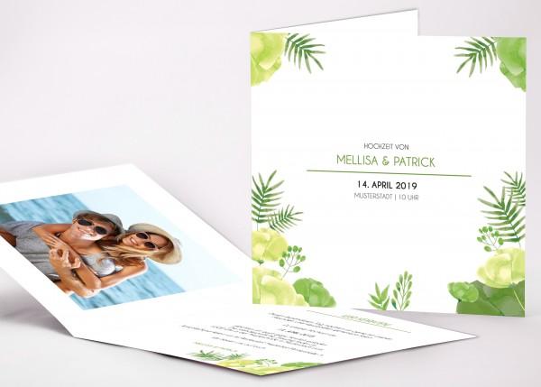 Einladungskarte Mellisa