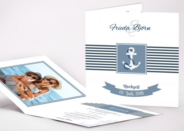 Einladungskarte Frieda